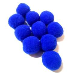 Foto POMPOM (POM-POM) 20MM AZUL ROYAL 207 - 100UN